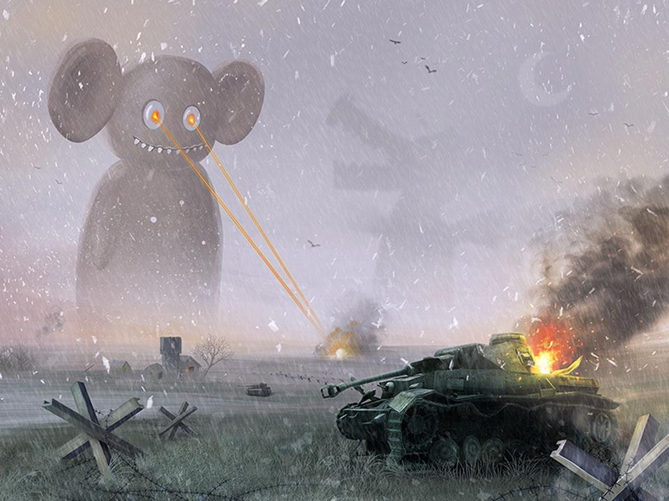 an illustration by Vasili Tkach